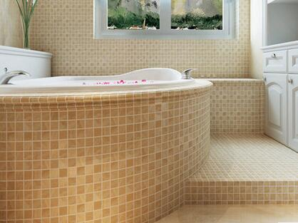 Minimal Art Extra Thick Ceramics Mosaic Tile Bathroom Anti Skidding Floor  Tile Bathtub Decoration Fireplace TV Backdrop Wall In Wallpapers From Home  ...
