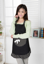 Boutique  Hanerdun Womens Apron Ladies Cute Apron Fancy Maid Set Apron, Black Bowknot Apron With pocket