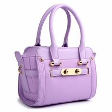 LG1603 - MISS LULU WOMEN DESIGNER CELEBRITY PU LEATHER LOOK SMALL HANDBAG CROSS BODY SHOULDER SATCHEL HAND BAG PURPLE