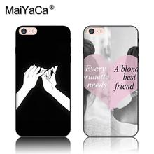MaiYaCa Darling You Ll Be Okay Best Friend Black Soft TPU Silicone Phone Case For iPhone 6 6s Case(China)