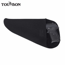 Tourbon Tactical Shooting Silicone Treated Pistol Firearm Case Pouch Gun Storage Socks Holster Gun Protector Black Fabric 28CM(China)