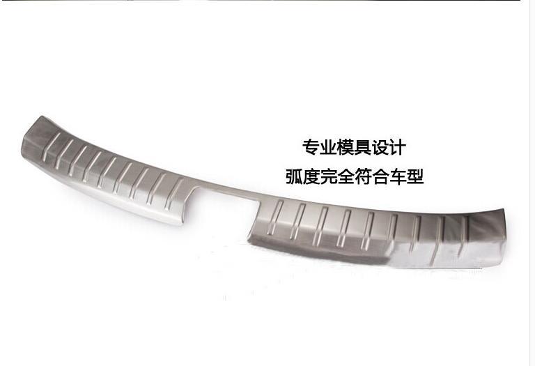 Stainless steel Inner Rear Bumper Protector Sill Trunk Tread Plate Trim For Hyundai Santa Fe IX45 2013 2014 2015<br><br>Aliexpress