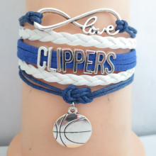 infinity Love clippers basketball team bracelets 5pcs/lot charm love clippers souvenir bracelets(China)