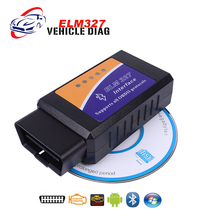 Latest Super Mini ELM327 Bluetooth Interface V2.1 On Android Torque BT Elm 327 OBD2 Code Scanner Free Shipping