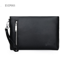 2017 man fashion handbag Men Envelope Style Bag Messenger Bags PU Leather Male Clutch Bag mobile phone bag male ipad work purse(China)