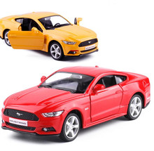 1:36 alloy pull back car models, high simulation Ford Mustang 2015GT toys,toy vehicles,educational toys, free shipping(China)