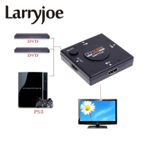 Larryjoe Full HD 1080P Mini 3 Port HDMIv1.3 Port HDMI Switch Switcher Vedio Splitter Amplifier for DVD PS3, Xbox 360