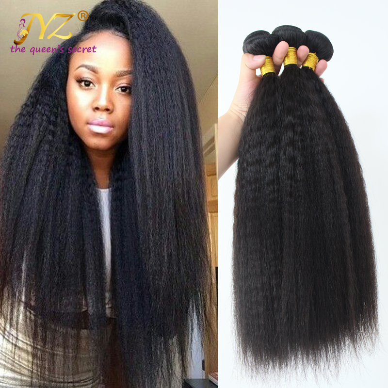 Kinky Straight Peruvian Virgin Hair 3PCS Virgin Human Hair Extension Grade 8A Peruvian Kinkky Straight Wholesale Hair Weave<br><br>Aliexpress