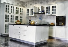 PVC/vinyl kitchen cabinet(LH-PV052)(China)