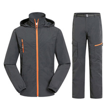 Men Women Hiking Jacket Quick Dry Breathable Jackets Outdoor Pants Sports Suit Trekking Hiking Sets Camping Fishing Tracksuit