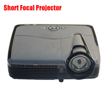 HD Short Focus DLP Projector 1024*768 Native Resolution 3600ANSI Lumens Home 3D Projector High Brightness Projector