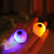 36units/lot Halloween Party decoration Glow Eyes Ring toy cartoon eyesball led finger ring with plastic safety LED supplies