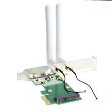 Mini PCI-E to PCI-E Adapter Convertor Wireless Wifi Adapter With 2dB Antenna wifi Receiver Network Card Adapter(China)