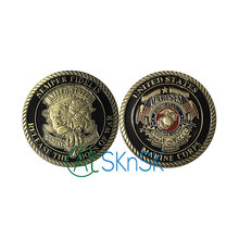 1/3/5/10pcs/lot New Semper Fidelis Release the Dogs of War US Marine Corps USMC Devil Dogs Challenge Coin(China)