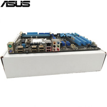 original Used Desktop motherboard For ASUS P7P55 LX P55 support LGA1156 4*DDR3 support 16G 6*SATA II USB2.0 ATX(China)