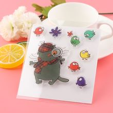 1 Set Cat Bird Scrapbooking DIY Album Cards Rubber Clear Sheet Transparent Silicone Stamps DIY Crafts Cute New Supplies