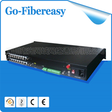 16 channel Fiber optic Video &16 channel Analog Audio Multiplexer Digitally Encoded