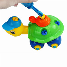 Chamsgend Turtle Christmas Gift Disassembly Car Design Educational toys for children A# dropshipping(China)