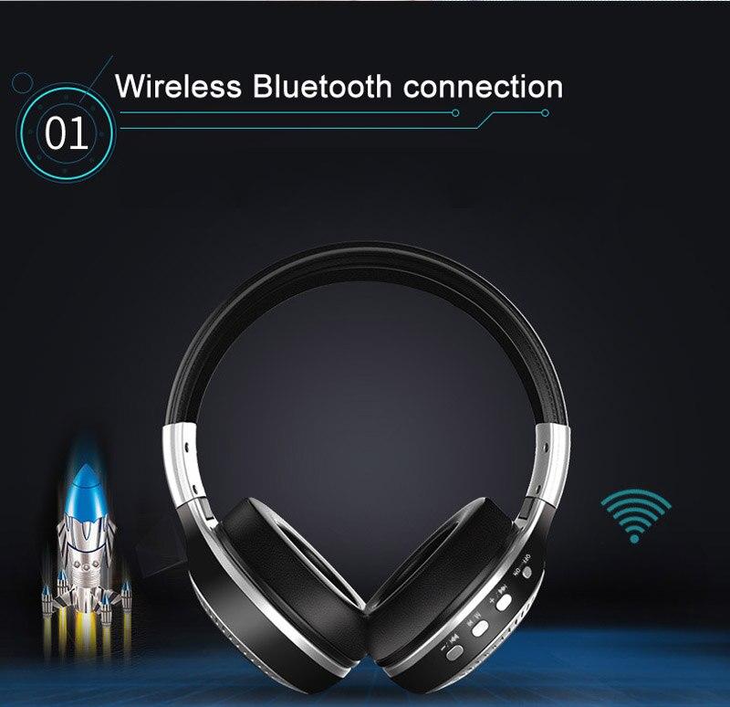 B19 Wireless Bluetooth headphones V4.1 Subwoofer sport headset support TF card/ FM radio digital display
