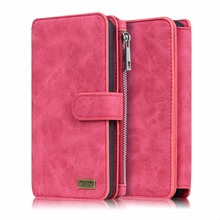 New Genuine Leather Wallet 2in1 Phone Case For LG G3 G4 G5 Removable Zip Original Magnet Cover Phone Cases Bag For LG G6 Cover(China)