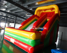 Hot-selling inflatable dry slide popular slide with climbing wall for kids(China)