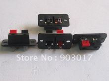 38x19mm 2pin Red and Black Push Type Speaker Terminal Board Connector HOT Sale HIGH Quality 150 Pcs Per Lot