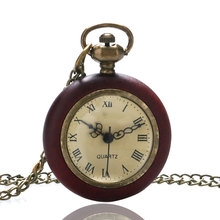 5 Type Antique Vintage Glass Glass Ball Clock Eye Necklace Quartz Pocket Watch Necklace Unisex Christmas Gift P10 Free Shipping(China)