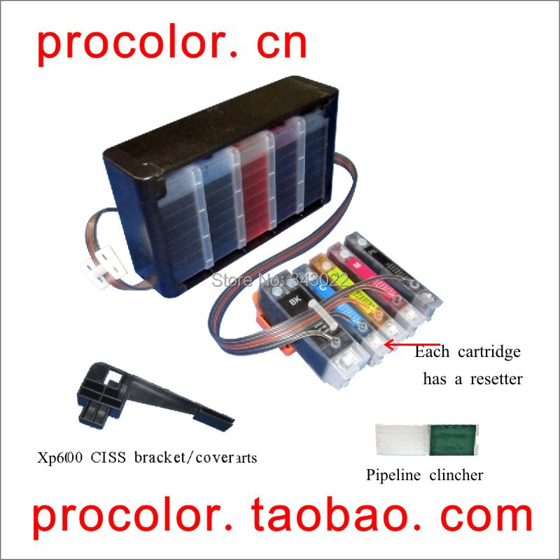 A new CISS(continuation ink supply system) for epson XP-600 XP-605 XP-700 XP-800 with ARC chip(Dont take it out for reset)<br><br>Aliexpress
