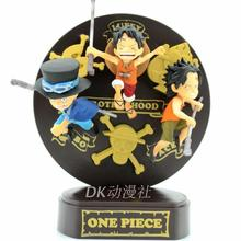 Wholesale One piece POP Portgas Childhood Luffy Ace Sabo PVC Action Figure Collection Model Toy Loose