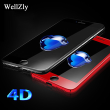 Buy iphone 7 8 6 Plus 4D Tempered Glass Film iphone 6 4D Film iphone x 6 7 8 Tempered Film Screen Protector red Wellzly for $3.66 in AliExpress store