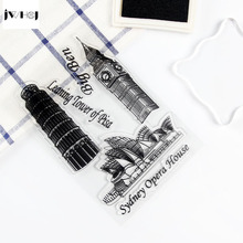 JWHCJ European architecture transparent silicone stamps, children DIY Handmade Scrapbook Photo Album decor students soft Stamps(China)