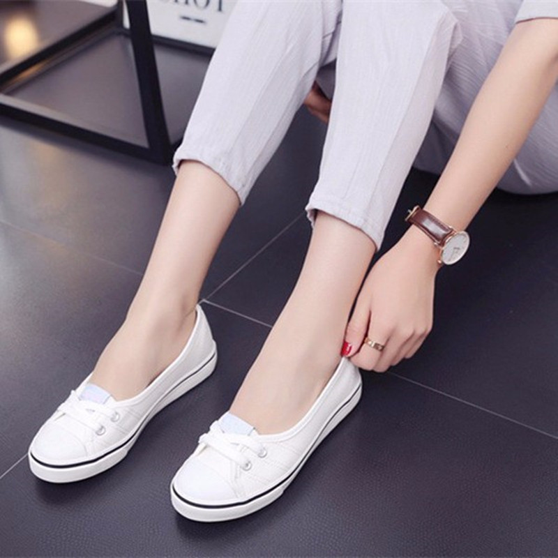 Lithe Casual New Fashion Womens Ladies Flat Spring Style Breathable Slip On Comfortable Loafers For Women Canvas Casual Shoes<br><br>Aliexpress