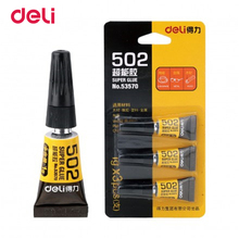Deli Office &School Supplies 3pcs Instant quick-drying rubber slime 3g adhesive liquid Cyanoacrylate super glue touch .(China)