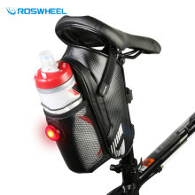 Roswheel Tail Light / Carry Jar Bicycle Bag MTB Road Mountain Bike Saddle Rear Seat Bag Bicycle Accessories Cycling Storage Bag(China)