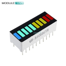 2PCS LED Display Module 10 Segment Bargraph Light Display Module Bar Graph Ultra Bright Red Yellow Green Blue Colors Multi-color(China)