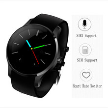 2017 New Waterproof Round Smart Watch K88S Smartwatch for Android ISO Apple SIM Bluetooth Heart Rate Monitor WristWatch Phone
