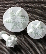 Fondant cutter Big Veined Snowflake Plunger Cutter Cake Flower Sugarcraft Cutters and Mold for cake decorating tools(China)