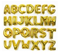 16inch 40cm gold capital letter A to Z option foil mylar helium Balloons for Birthday wedding Party shopwindow Decoration