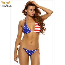 Joewell 2017 Swimsuit Push Up Swimwear Bra American Flag Bikini Top Bathing Suit Bathing Suit Women Brazil Two-Piece Suits(China)