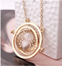 New Arrival  7 colors  18K Gold Plated  Time Turner Necklace Hermione Granger  100 pcs/lot  DHL free
