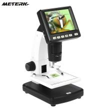 "Stand Alone Desktop 3.5"" LCD Digital Microscope 10-300X up to 1200x Magnification 5M Resolution and Measurement Storage Card(China)"
