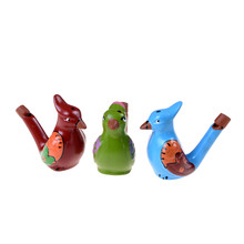 Early Learn Educational Children Gift Toy Musical Instrument Coloured Drawing Water Bird Whistle Bathtime Musical Toy(China)