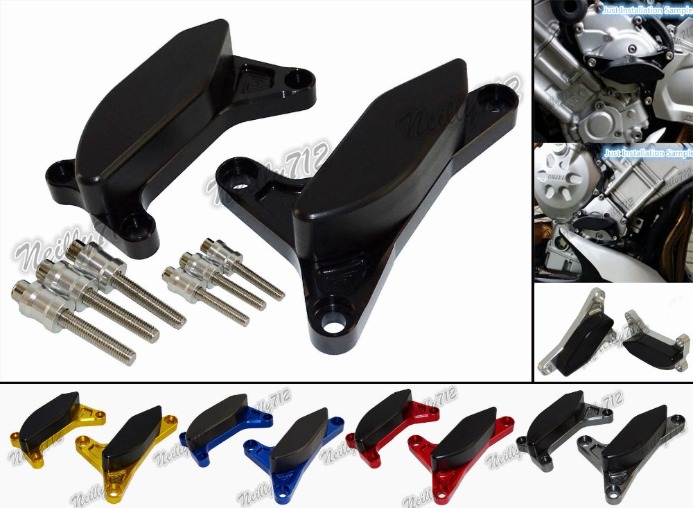 waase Engine Stator Crash Pad Slider Protector For Yamaha Fazer FZ8 FZ8N FZ8S 2010 2011 2012 2013 2014 2015 2016<br>