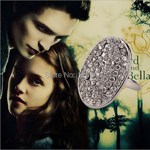 20PCS/LOT Movie Twilight Moonstone Bella Engagement Ring High Quality Rhinestone Rings For Girls Charms Size #6,7,8,9,10