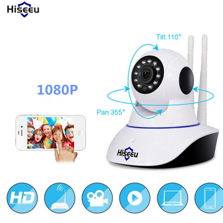Hiseeu 1080p Night Vision CCTV Camera Camaras De Seguridad HD Camera Baby Monitor Mini Wifi Endoscope Pan Tilt IP Camera Wifi 41<br>