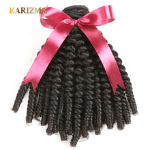 Karizma Mongolian Bouncy Curly Wave Hair Bundles 8-26inch Natural Color 1 Piece Non Remy Hair Extensions 100% Human Hair Weaving(China)