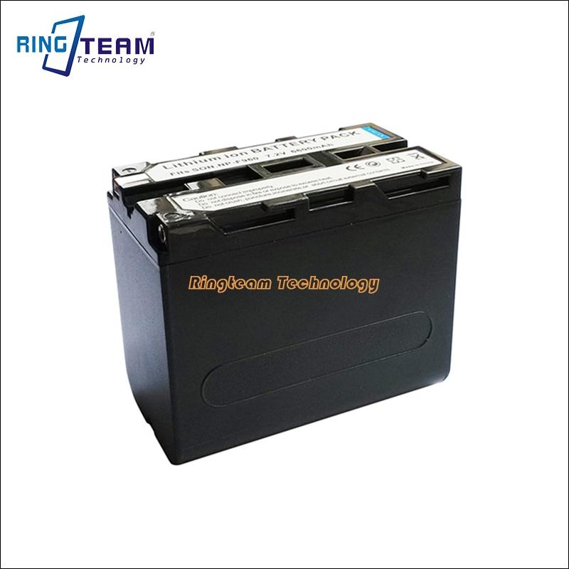 2x batería 10400mah para Sony np-f960 np-f970 npf960 npf970