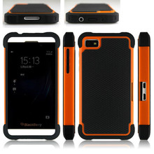 Dual Layer Ballistic Plastic Case Shockproof Cover For BlackBerry Z10 Hybrid Back Capa