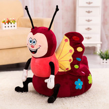 1pcs Stools thickening Cotton Cover Cartoon Plush PP cotton Pouf Chair Lovely Pneumatic Stools Portable