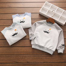 kids t-shirt baby clothes spring children's cotton terry embroidery top wear children's clothing factory wholesale